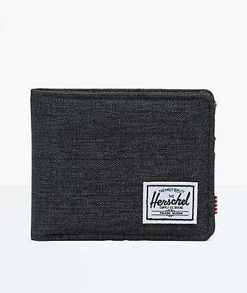 Herschel Supply Co. Roy Black Crosshatch Bifold Wallet