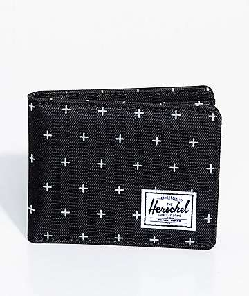 Herschel Supply Co. Roy Black Gridlock Bifold Wallet