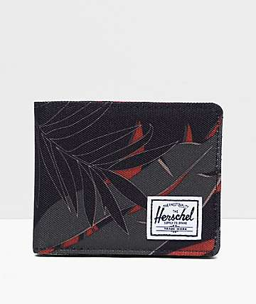 Herschel Supply Co. Roy Palm Dark Olive Bifold Wallet