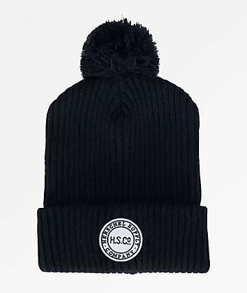Herschel Supply Co. Sepp Black Pom Beanie