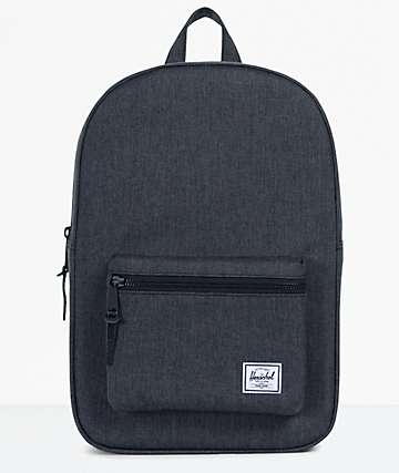 Herschel Supply Co. Settlement Mid Black Crosshatch Backpack