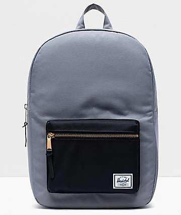 Herschel Supply Co. Settlement Mid Grey & Black Backpack