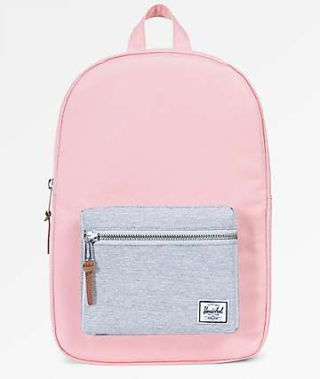 Herschel Supply Co. Settlement Mid Peach & Light Grey Crosshatch 17L Backpack