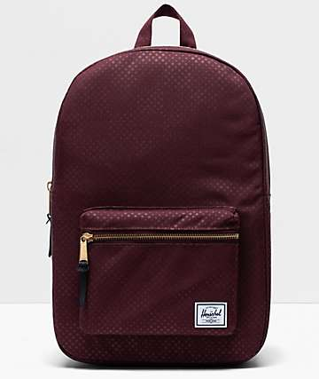 Herschel Supply Co. Settlement Mid Plum Dot Check Backpack