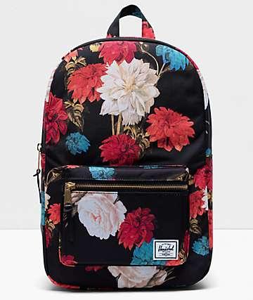 95deb1ecbfb5e Herschel Supply Co. Settlement Mid Vintage Floral Black Backpack