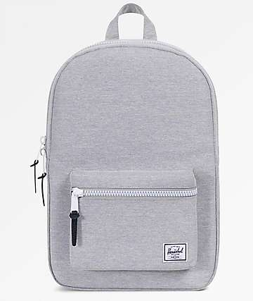 Herschel Supply Co. Settlement Mid Volume Light Grey Crosshatch Backpack