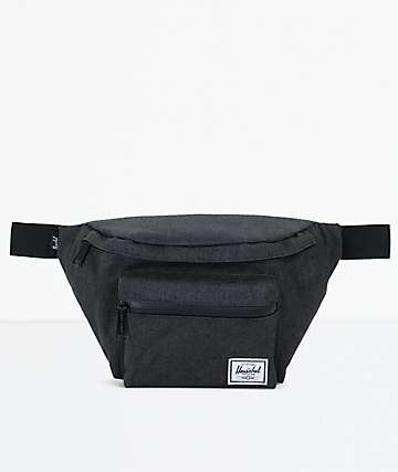 Herschel Supply Co. Seventeen Black Crosshatch Fanny Pack