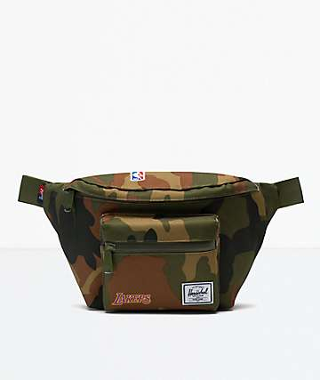 Herschel Supply Co. Seventeen LA Lakers Camo Fanny Pack