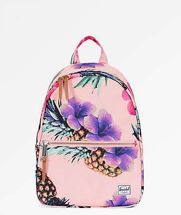 Herschel Supply Co. Town Extra Small Peach Pineapple Mini Backpack