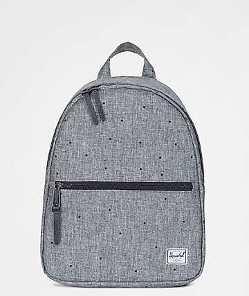 Herschel Supply Co. Town Extra Small Scattered Raven Crosshatch 9L Backpack