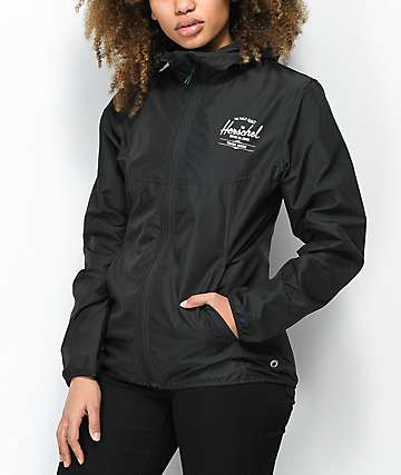 Herschel Supply Co. Voyage Black Windbreaker Jacket