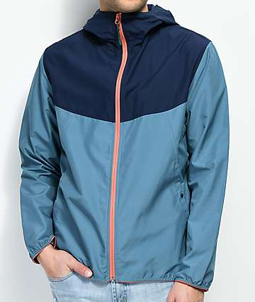 Herschel Supply Co. Voyage Blue, Navy & Pink Hooded Windbreaker Jacket