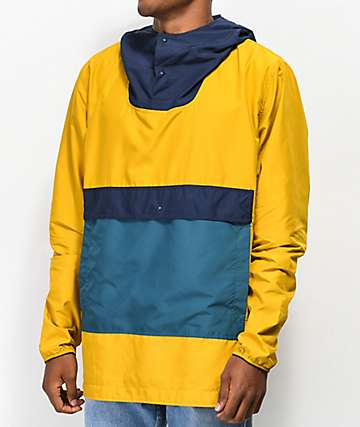 Herschel Supply Co. Voyage chaqueta anorak amarillo y azul