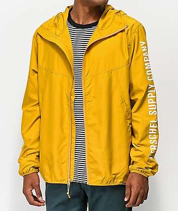 Herschel Supply Co. Voyage chaqueta cortavientos amarillo y blanca