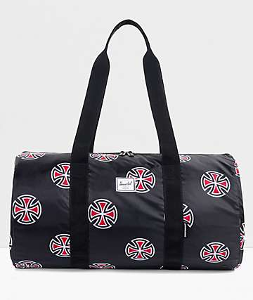Herschel Supply Co. X Independent Packable Black Duffle Bag