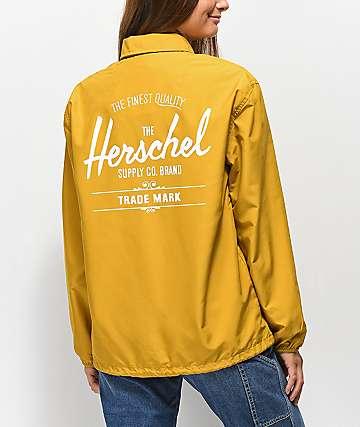 Herschel Supply Co. chaqueta entrenador amarilla