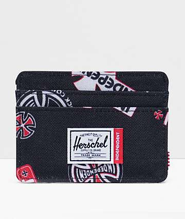 Herschel Supply Co. x Independent Charlie Black Cardholder Wallet