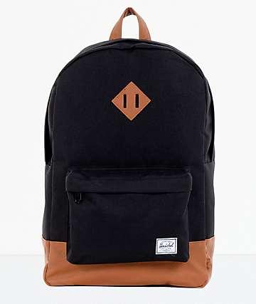 Herschel Supply Heritage Black & Tan Backpack