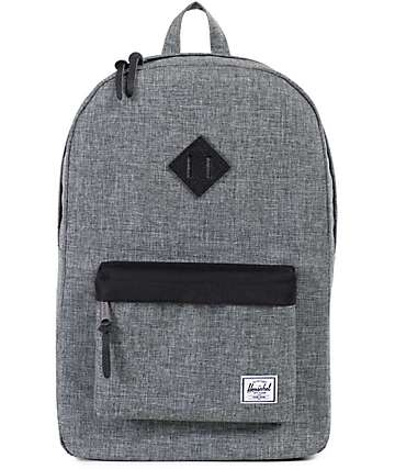 Herschel Supply Heritage Raven Crosshatch 21.5L Backpack