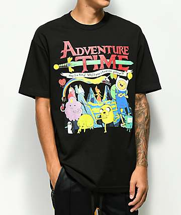Homage Adventure Time Black T-Shirt