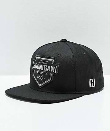 Hoonigan Bracket X Black & Black Snapback Hat