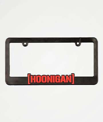 Hoonigan CBar Black & Red License Plate Frame