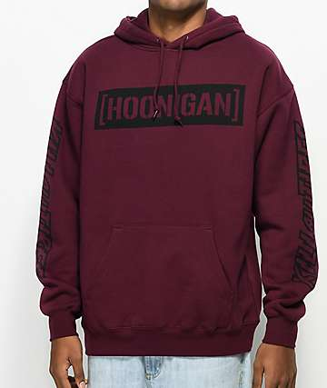 Hoonigan Censor Bar Kill All Tires Burgundy Hoodie