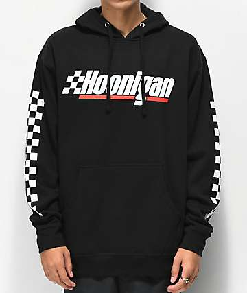 Hoonigan Checkered Flag Black Hoodie