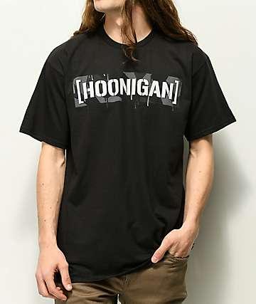 Hoonigan Geo Drip Camo Black T-Shirt
