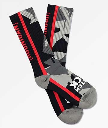 Hoonigan Geo Drip Camo Crew Socks