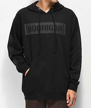 Hoonigan K.A.T. sudadera con capucha negra