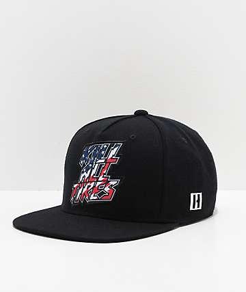 Hoonigan Kill All Tires Red, White, Blue & Black Snapback Hat
