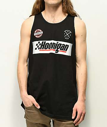 Hoonigan Open Wheel Black Tank Top