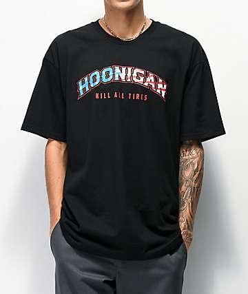 Hoonigan Rocker Flag Black T-Shirt