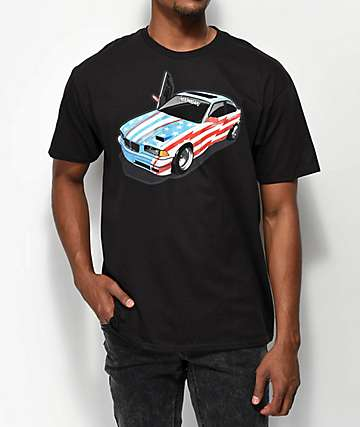 Hoonigan Sh!t Car camiseta negra