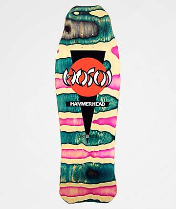 "Hosoi Skateboards Hammerhead 10.5"" Double Kick Assorted Swirl Stain Skateboard Deck"