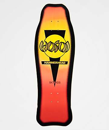 "Hosoi Skateboards Hammerhead 10.5"" Double Kick Sunburst Skateboard Deck"