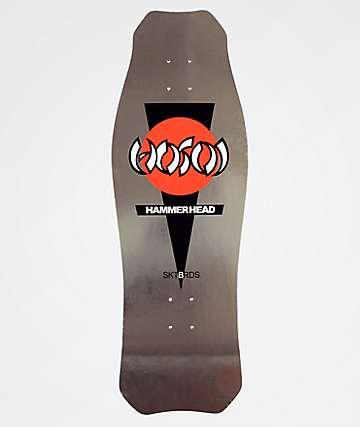 "Hosoi Skateboards O.G. Hammerhead 10.5"" Silver Skateboard Deck"