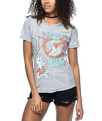 Hot Lava U Can't Touch This camiseta gris