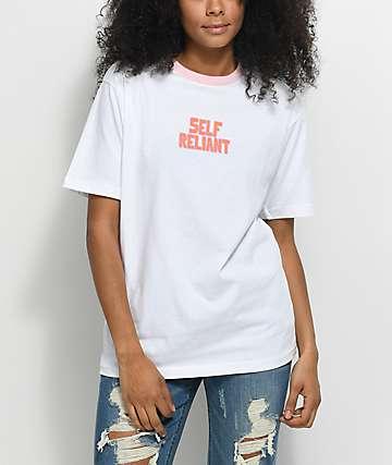 Hot Lava x Zumiez Self Reliant White & Pink T-Shirt