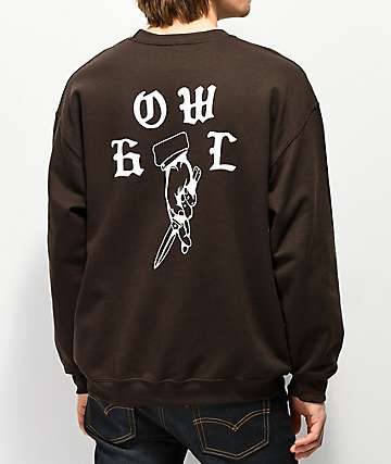 Howl Lucky Brown Crewneck Sweatshirt