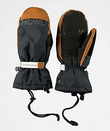Howl Network Navy Snowboard Mittens