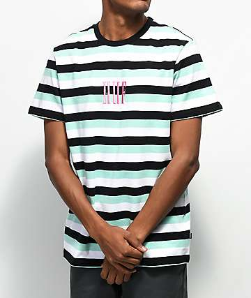 Huf Marka Bold Striped Knit T-Shirt