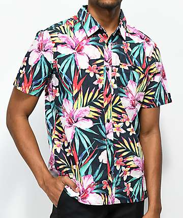 Hurley Garden Short Sleeve Button Up Shirt