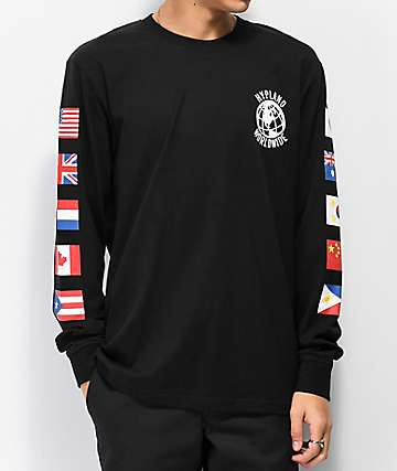 Hypland Worldwide Black Long Sleeve T-Shirt