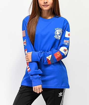 Hypland Worldwide Blue Long Sleeve T-Shirt