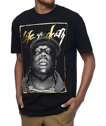 Hypnotize Biggie Life Black T-Shirt