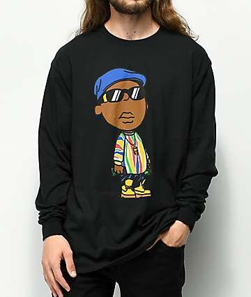 Hypnotize Notorious BIG Black Long Sleeve T-Shirt