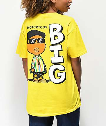 Hypnotize Notorious BIG Cartoon Yellow T-Shirt