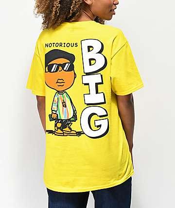 Hypnotize Notorious BIG camiseta amarilla de caricatura 2604b7dbb75